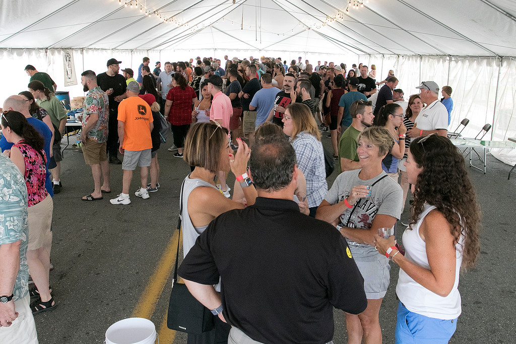 . The annual Leominster Johnny Appleseed Craft Beer Festival was held Saturday, August 3, 2019. They had around 40 venders at the event with many of their beers. SENTINEL & ENTERPRISE/JOHN LOVE