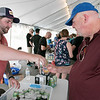 The annual Leominster Johnny Appleseed Craft Beer Festival was held Saturday, August 3, 2019. They had around 40 venders at the event with many of their beers. Kyle Cellana with Sweet Water Brewing Company pours an IPA for Ed Desgroseilliers from Fitchburg. SENTINEL & ENTERPRISE/JOHN LOVE