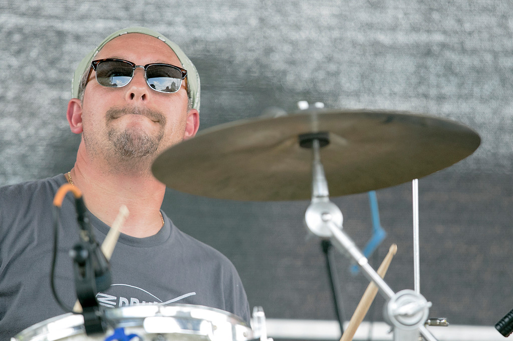. The annual Leominster Johnny Appleseed Craft Beer Festival was held Saturday, August 3, 2019. They had around 40 venders at the event with many of their beers. The band Juke performed during the festival. Rick Dondero from Leominster plays the drums with the band. SENTINEL & ENTERPRISE/JOHN LOVE