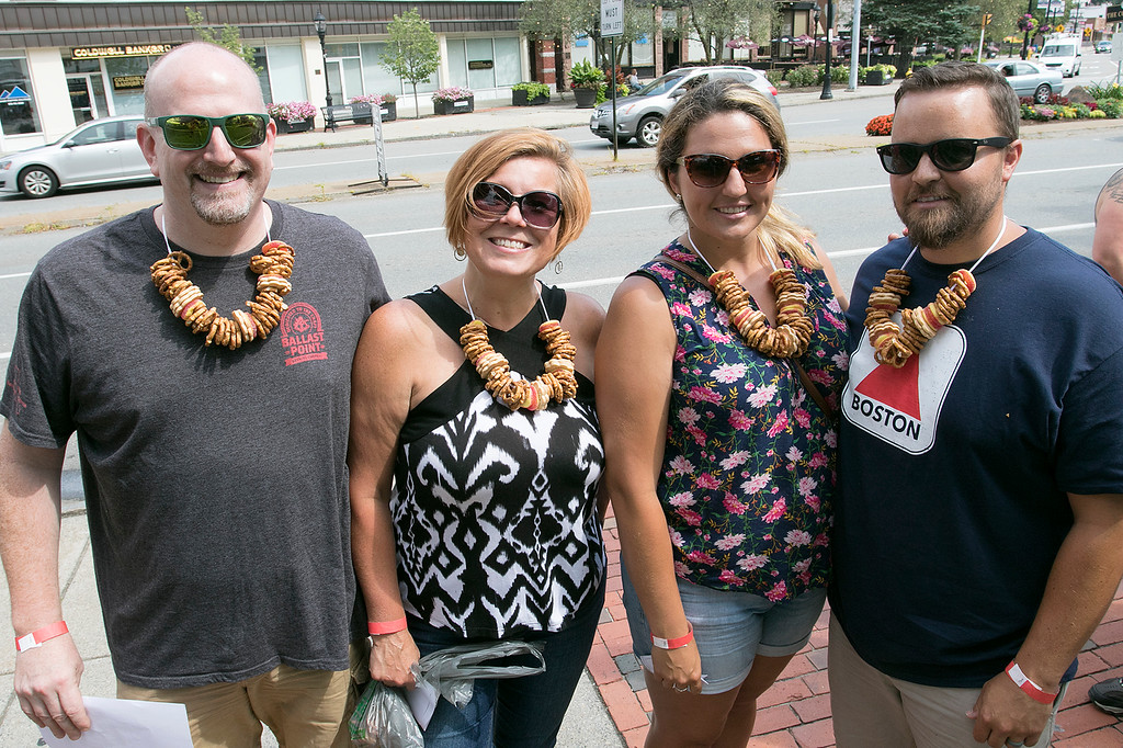 . The annual Leominster Johnny Appleseed Craft Beer Festival was held Saturday, August 3, 2019. They had around 40 venders at the event with many of their beers. This group from New Hampshire was ready for the festival. From left is John Veeser and Karyn Veeser with Kara Coutu and Jon Coutu. SENTINEL & ENTERPRISE/JOHN LOVE