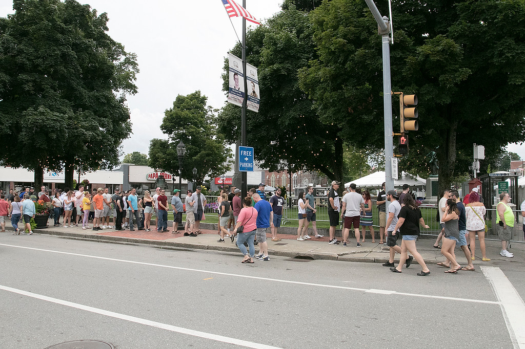 . The annual Leominster Johnny Appleseed Craft Beer Festival was held Saturday, August 3, 2019. They had around 40 venders at the event with many of their beers. The line was long to get into the festival. SENTINEL & ENTERPRISE/JOHN LOVE