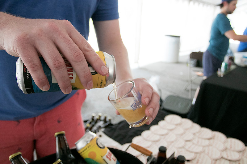The annual Leominster Johnny Appleseed Craft Beer Festival was held Saturday, August 3, 2019. They had around 40 venders at the event with many of their beers. A summer Ale from New City Brewery is being poured during the festival. SENTINEL & ENTERPRISE/JOHN LOVE