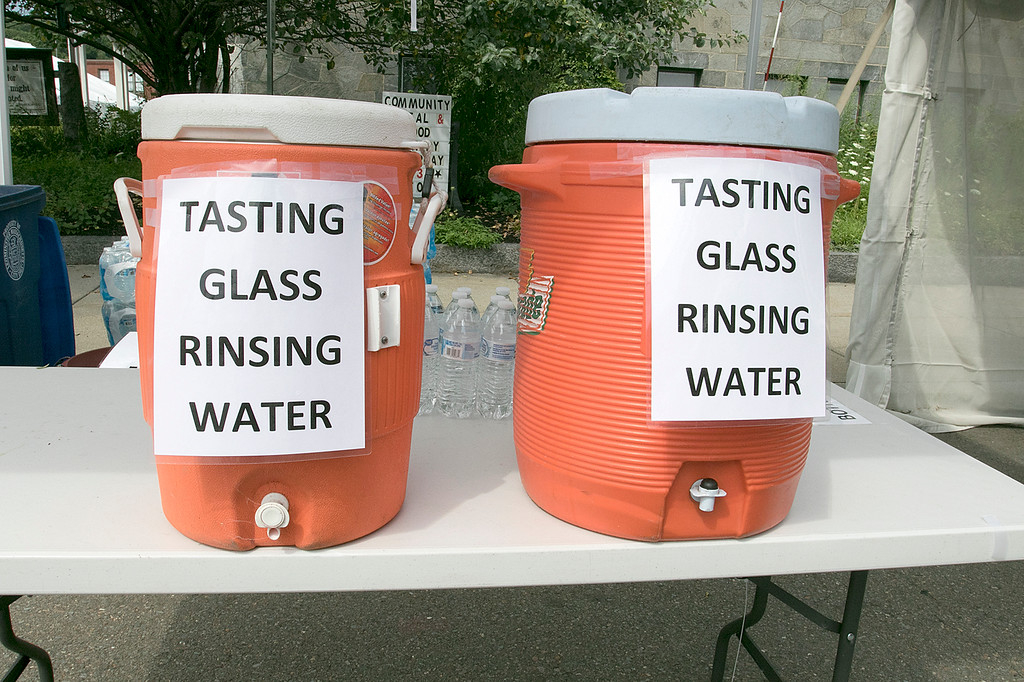 . The annual Leominster Johnny Appleseed Craft Beer Festival was held Saturday, August 3, 2019. They had around 40 venders at the event with many of their beers. They had some water for rinsing out your shot glasses between beers. SENTINEL & ENTERPRISE/JOHN LOVE