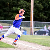 Leominster Legion left fielder Nick White hits a double to center during a game at home against Framingham Post 74 on Monday.  SENTINEL & ENTERPRISE JEFF PORTER