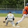 Leom's Jeff Besozzi is safe at 1st base