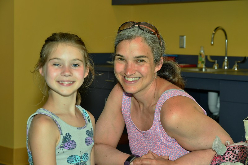 Gianna Duncan, who will be entering the 4th Grade and her Mom, Michelle Duncan. From Leominster, they were participating in a program at the Leominster Public Library Monday afternoon.<br /> Sentinel & Enterprise / Jim Fay