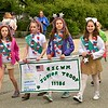 Girl Scout Troop 11186 Marching in the Leominster Memorial day Parade.    Sentinel & Enterprise/ Jim Fay