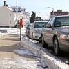The City of Leominster is looking into changing the storm parking ban law. These cars where parked on Merriam Avenue. SENTINEL & ENTERPRISE/JOHN LOVE