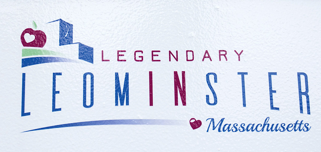 . Mayor Dean Mazzarella talk on Tuesday, July 16, 2019 about the City rebranding itself. This is the new Leominster logo. SENTINEL & ENTERPRISE/JOHN LOVE