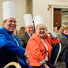 Co-workers of Chef David Sweeny, of Appleseed's Restaurant at Leominstet CTEi,  show their support as he receives Leominster High School Employee of the Year during the Leominster Rotary Club's 23rd Annual Vocational Awards Dinner at the DoubleTree by Hilton Hotel in Leominster on Wednesday, March 20, 2017. SENTINEL & ENTERPRISE / Ashley Green