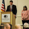 Pastor David Stewart, of New Life Church, gives the Invocation during the Leominster Rotary Club's 23rd Annual Vocational Awards Dinner at the DoubleTree by Hilton Hotel in Leominster on Wednesday, March 20, 2017. SENTINEL & ENTERPRISE / Ashley Green