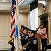 The Leominster Police Department presents the colors ahead of the Leominster Rotary Club's 23rd Annual Vocational Awards Dinner at the DoubleTree by Hilton Hotel in Leominster on Wednesday, March 20, 2017. SENTINEL & ENTERPRISE / Ashley Green