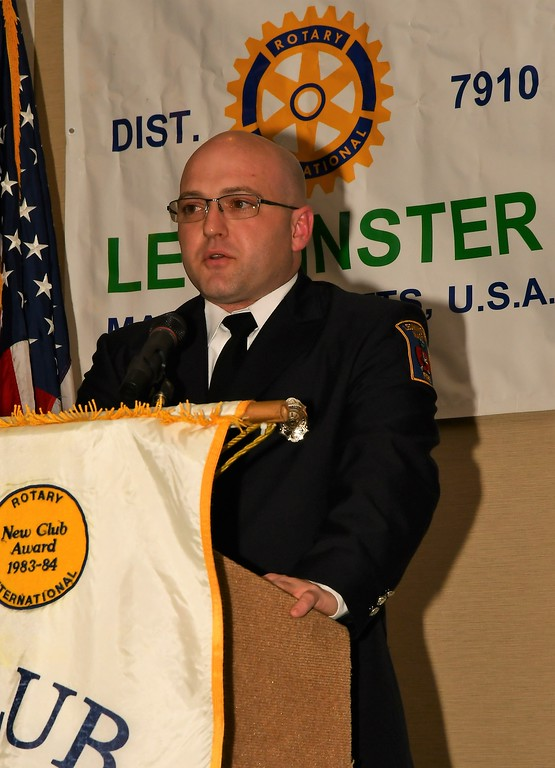 . Jeremy Murphy was named the Leominster Fire Department\'s Employee of the Year. Jim Fay / Sentinel & Enterprise
