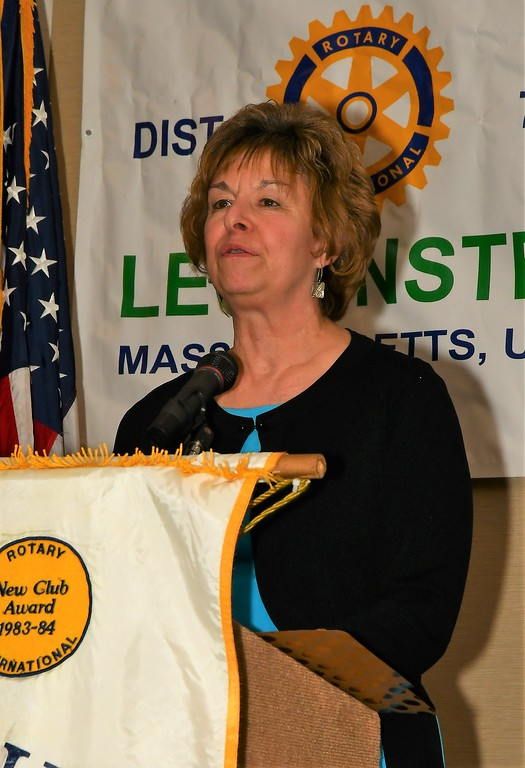 . Nancy Tourigny is the Leominster Library Employee of the  Year. Jim Fay / Sentinel & Enterprise