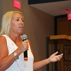 The Leominster School Department held an all district faculty function kicking off the new school year at the Leominster High School auditorium on Tuesday morning. Principal of Fall Brook Elementary School Paula Deacon addressed the issue of homework at the function. SENTINEL & ENTERPRISE/JOHN LOVE
