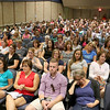 The Leominster School Department held an all district faculty function kicking off the new school year at the Leominster High School auditorium on Tuesday morning. SENTINEL & ENTERPRISE/JOHN LOVE