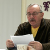 The Leominster Senior Center holds a writing class every Friday afternoon from 1 p.m. to 3 p.m. run by Jane Lonnqvist of Fitchburg. Ron Smith of Leominster reads his story during class on Friday, Dec. 27, 2019. SENTINEL & ENTERPRISE/JOHN LOVE