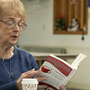 The Leominster Senior Center holds a writing class every Friday afternoon run by Jane Lonnqvist of Fitchburg.  Lonnqvist reads one of her published stories during the class. SENTINEL & ENTERPRISE/JOHN LOVE