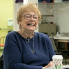 The Leominster Senior Center holds a writing class every Friday afternoon from 1 p.m. to 3 p.m. run by Jane Lonnqvist.  Lonnqvist has good laugh with her class as they read their stories on Friday, Dec. 27, 2019. SENTINEL & ENTERPRISE/JOHN LOVE