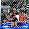Jaliany Hiciano 11 from Leominster gets dunked in the dunk tank SENTINEL&ENTERPRISE/Scott LaPrade
