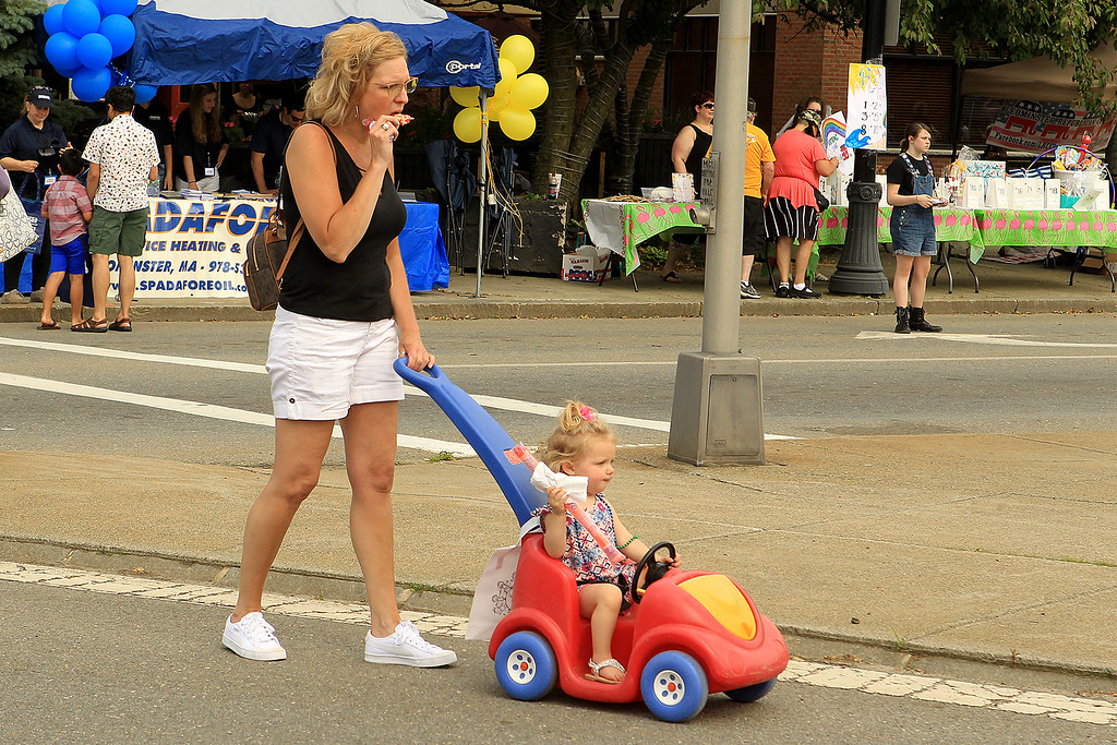 . Haedynn Gorski in the stroller and Stephanie Kolehmainen SENTINEL&ENTERPRISE/Scott LaPrade