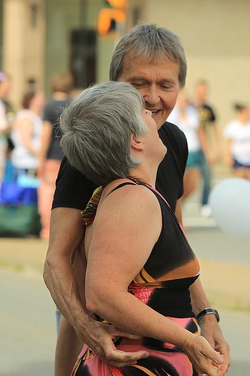 . Erik and Carolyn Jarvi after a dance and a kiss SENTINEL&ENTERPRISE/Scott LaPrade