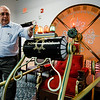 LATV executive director Carl Piermarini shows off the replica time machine he built over the course of five years, inspired by the movie 'The Time Machine' from 1960. SENTINEL & ENTERPRISE / Ashley Green