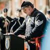 Sgt. Steve Raff, 15th MVI, provides a Veterans Prayer to kick off the Veterans Day ceremonies on Leominster's Monument Square on Friday morning. SENTINEL & ENTERPRISE / Ashley Green