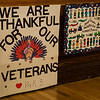 Handmade Veterans Day cards sit on a table during the Veterans Day ceremonies at Leominster City Hall on Friday morning. SENTINEL & ENTERPRISE / Ashley Green