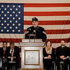 Sgt. Steve Raff leads a prayer during the Veterans Day ceremony at Leominster City Hall on Friday morning. SENTINEL & ENTERPRISE / Ashley Green