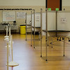 The polls were quiet at Frances Drake Elementary School during the Ward 2 City Council special election on Tuesday, May 9, 2017. SENTINEL & ENTERPRISE / Ashley Green