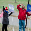 Candidate Pauline Cormier joins her supporters at Frances Drake Elementary School during the Ward 2 City Council special election on Tuesday, May 9, 2017. SENTINEL & ENTERPRISE / Ashley Green