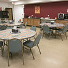 The Leominster Office of Emergency Management has a warming station at their facility that they open in times of need. This is the area in which the guests eat and hang out while at the shelter at the facility. SENTINEL & ENTERPRISE/JOHN LOVE
