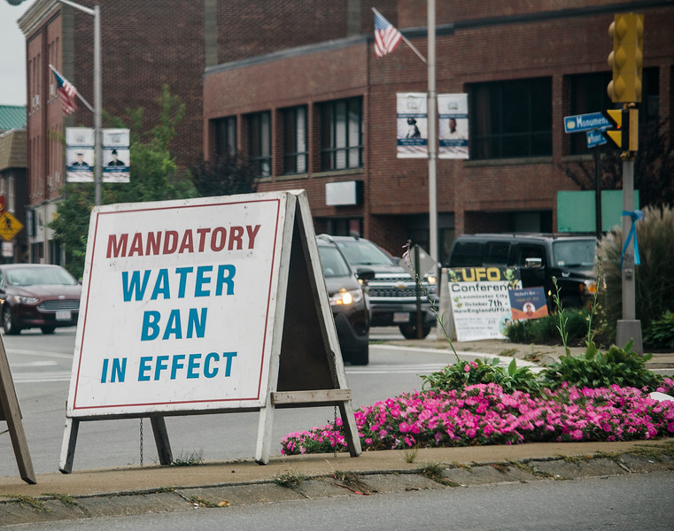 A mandatory water ban is now in effect in Leominster. SENTINEL & ENTERPRISE / Ashley Green
