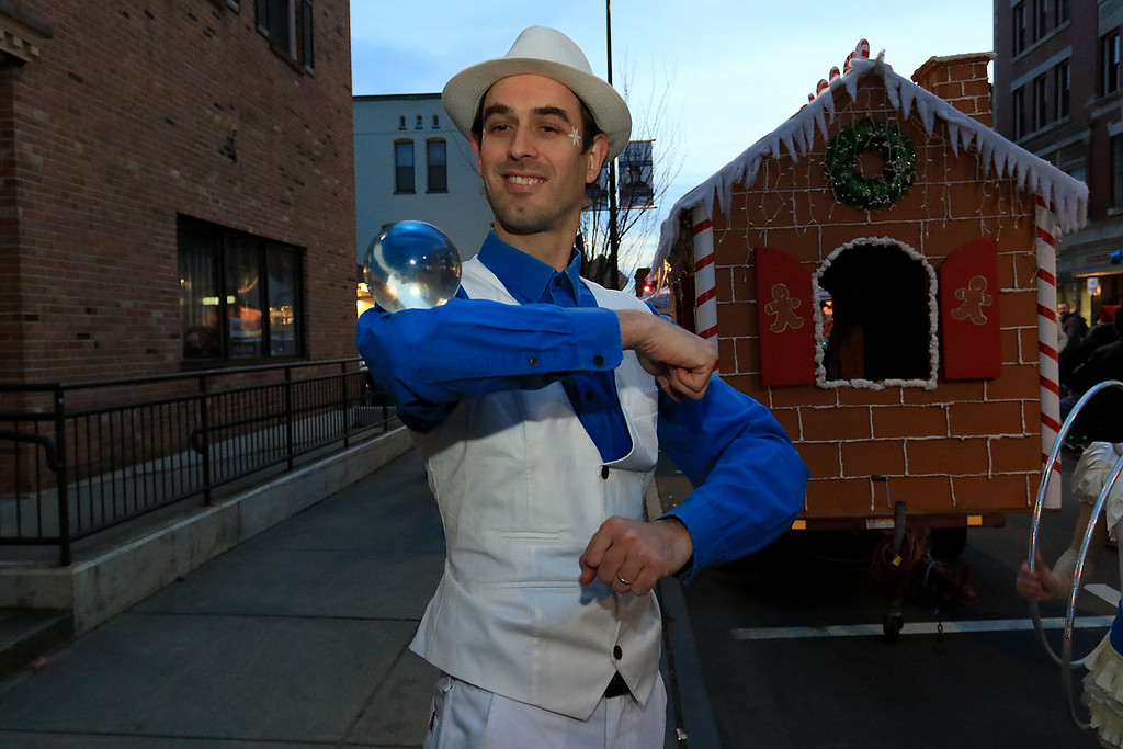 . The 13th Annual Leominster Holiday Stroll was held on on Saturday, December 1, 2018 in Downtown. Contact juggler Brian Walden from Royalston entertained the crowds. SENTINEL & ENTERPRISE/JOHN LOVE
