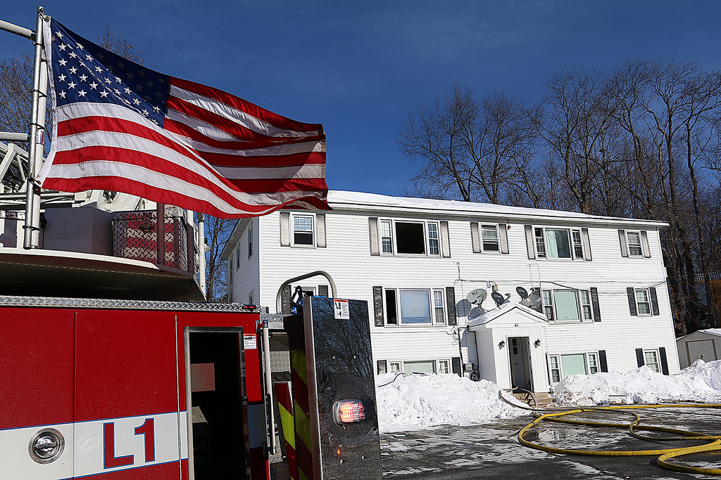 . A fire broke out on the second floor apartment of 41 Hamilton Street in Leominster on January 6, 2018. SENTINEL & ENTERPRISE/JOHNLOVE
