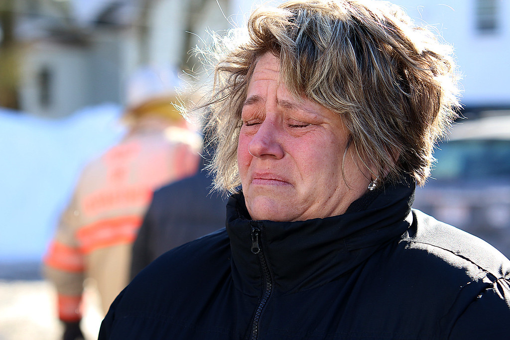 . Kristine Mason who lived on the third floor of 41 Hamilton Street in Leominster where a fire broke out on the second floor just before noon on January 6, 2017. She got a little emotional as she talked about the fire.  SENTINEL & ENTERPRISE/JOHN LOVE