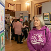 The Leominster Youth Art show was held at the Tata Auditorium in City Hall Thursday, March 5, 2020. All the schools in the district participated. Joan Perko looks over some the artwork in the show. She was their to see some work done by her granddaughter. SENTINEL & ENTERPRISE/JOHN LOVE