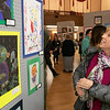 The Leominster Youth Art show was held at the Tata Auditorium in City Hall Thursday, March 5, 2020. All the schools in the district participated. Donna DiMarzio looks over some the artwork in the show. She was their to see some work done by her grandson. SENTINEL & ENTERPRISE/JOHN LOVE