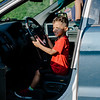 Julian Deleon, 4, tests out a Fitchburg Police Department vehicle during the National Night Out event held at Lowe Park in Fitchburg on Tuesday, August 1, 2017. SENTINEL & ENTERPRISE / Ashley Green