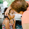 Aida Machuca, 8, gets her face painted by Brenda Piccard during the National Night Out event held at Watermill Apartments on Tuesday, August 1, 2017. SENTINEL & ENTEPRISE / Ashley Green