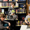 Hanging out in the Lunenburg Public Library's teen room on Tuesday afternoon having fun with friends is Joseph Russo, 11, Nicholas Defelice, 12, and J.J. Abell, 11. SENTINEL & ENTERPRISE/JOHN LOVE