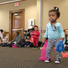 There were many children and their parents at Thursday, February 2, 2017  story hour at the Leominster Public Library. Amaya Weekes, 14 months, from Leominster dances in the center of the room during the story hour. SENTINEL & ENTERPRISE/JOHN LOVE