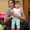 There were many children and their parents at Thursday, February 2, 2017  story hour at the Leominster Public Library. Participating in story hour is Dyan Linn and her daughter Kayleigh Linn, 11 months, from Leominster. SENTINEL & ENTERPRISE/JOHN LOVE