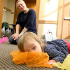 There were many children and their parents at Thursday, February 2, 2017  story hour at the Leominster Public Library. Enjoying herself at the story hour is Adelyn gower, 15 months, from Leominster. SENTINEL & ENTERPRISE/JOHN LOVE
