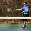 Leominster's Conal McBride in action during the match against Gardner at Doyle Field in Leominster on Thursday, April 13, 2017. SENTINEL & ENTERPRISE / Ashley Green