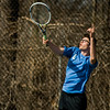 Leominster's Parker Dinsmore in action during the match against Gardner at Doyle Field in Leominster on Thursday, April 13, 2017. SENTINEL & ENTERPRISE / Ashley Green