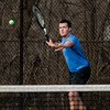 Leominster's Connor Edmands in action during the match against Gardner at Doyle Field in Leominster on Thursday, April 13, 2017. SENTINEL & ENTERPRISE / Ashley Green