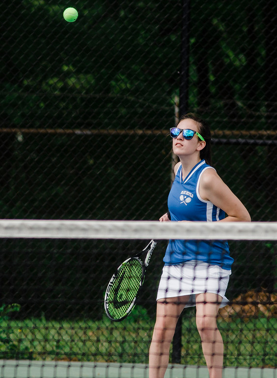. Leominster\'s Jamie Whitney competes during the match against Shepherd Hill on Friday, May 19, 2017. SENTINEL & ENTERPRISE / Ashley Green