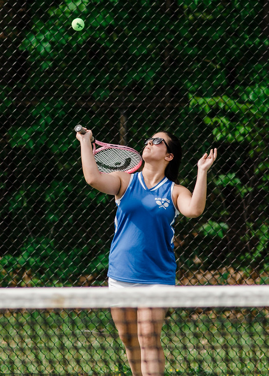 . Leominster\'s Jasmine Morcelo competes during the match against Shepherd Hill on Friday, May 19, 2017. SENTINEL & ENTERPRISE / Ashley Green